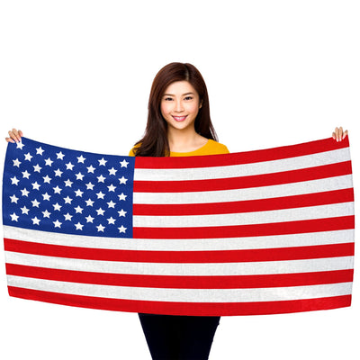 "USA Flag 30"" x 60"" Microfiber Beach Towel"
