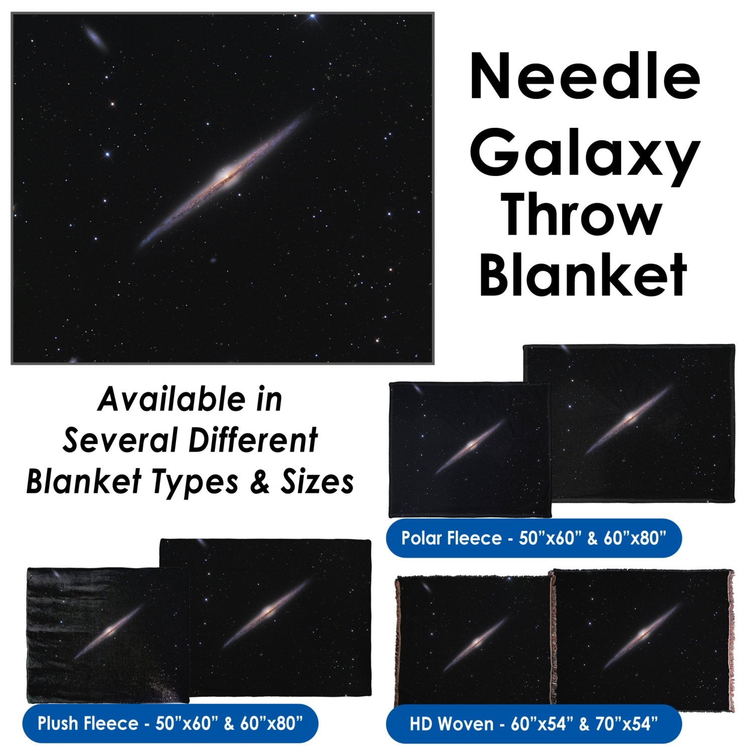 Needle Galaxy - Throw Blanket / Tapestry Wall Hanging