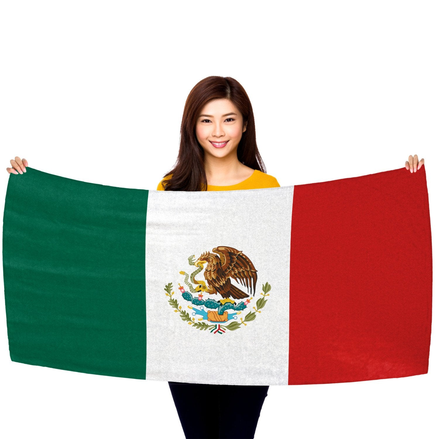 "Mexican Flag 30"" x 60"" Microfiber Beach Towel"