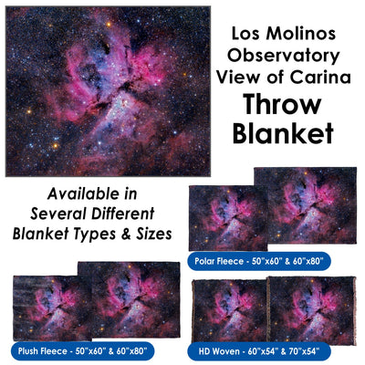 Los Molinos Observatory View of Carina - Throw Blanket / Tapestry Wall Hanging