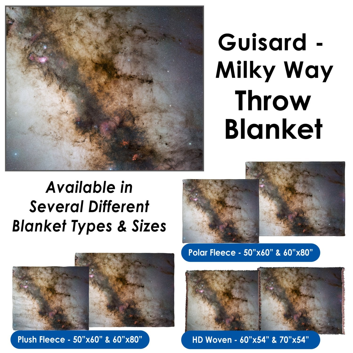 Guisard - Milky Way - Throw Blanket / Tapestry Wall Hanging