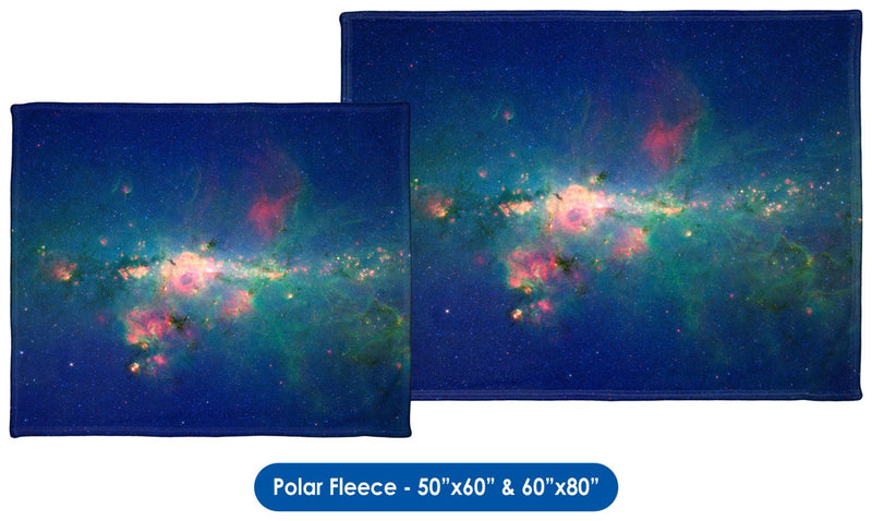 Downtown Milky Way - Throw Blanket / Tapestry Wall Hanging
