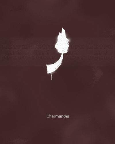 "Minimalist Charmander (24"" x 36"") - Canvas Wrap Print"