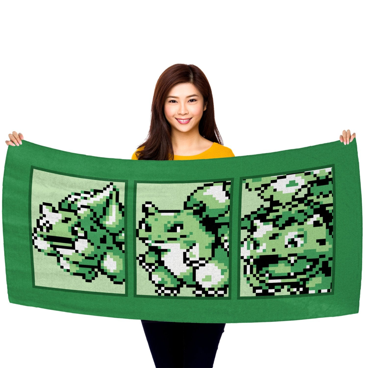 "Pokemon Grass Type Starter (Gen 1) Evolutionary Line 30"" x 60"" Microfiber Beach Towel"