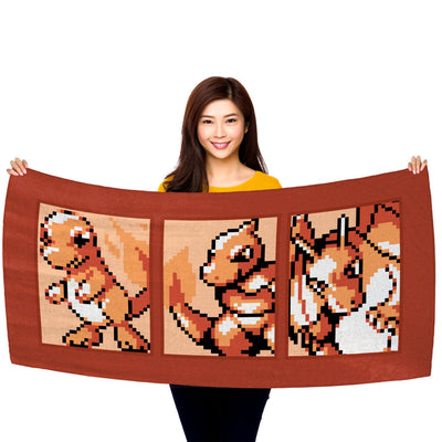 "Pokemon Fire Type Starter (Gen 1) Evolutionary Line 30"" x 60"" Microfiber Beach Towel"