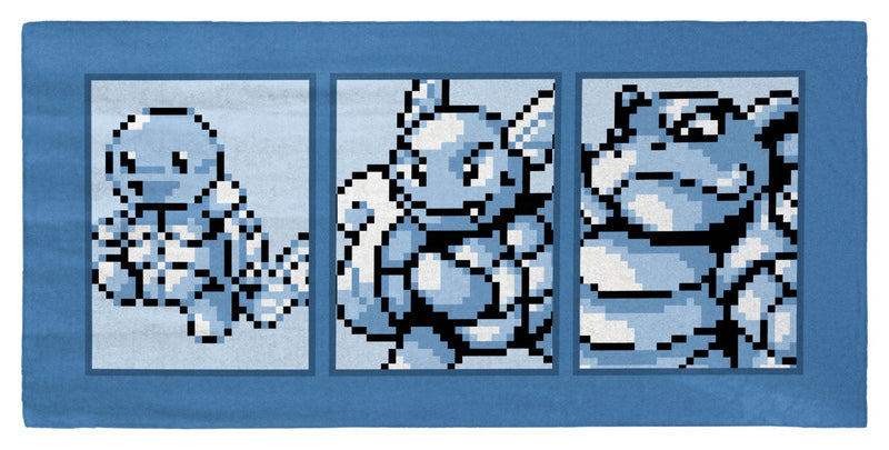 "Pokemon Water Type Starter (Gen 1) Evolutionary Line 30"" x 60"" Microfiber Beach Towel"