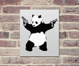 "Banksy, Panda with Guns (8"" x 10"") - Canvas Wrap Print"