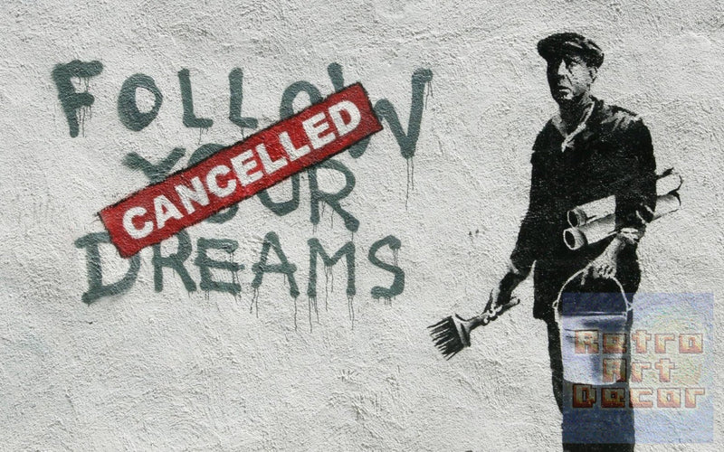 "Banksy, Cancelled Dreams (8"" x 10"") - Canvas Wrap Print"