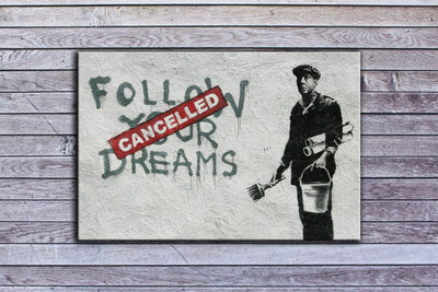 "Banksy, Cancelled Dreams (12"" x 18"") - Canvas Wrap Print"