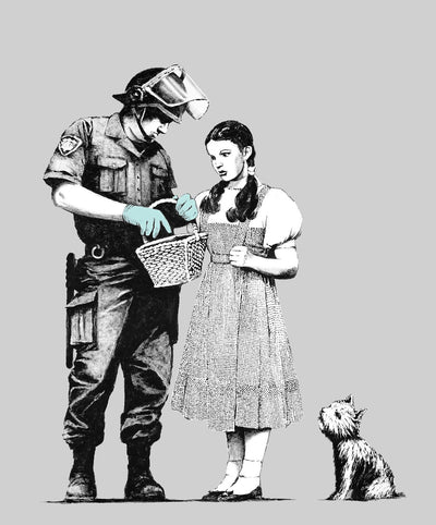 "Banksy, Dorothy Police Search (24"" x 36"") - Canvas Wrap Print"