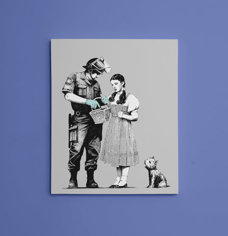 "Banksy, Dorothy Police Search (11"" x 14"") - Canvas Wrap Print"