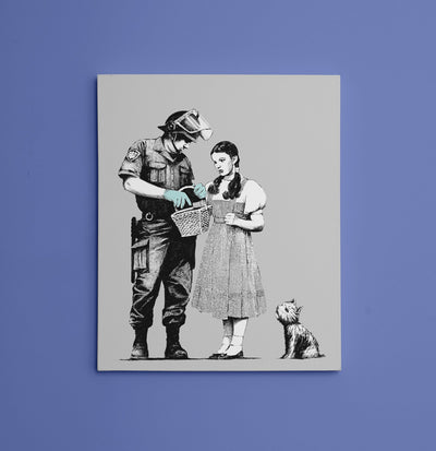 "Banksy, Dorothy Police Search (8"" x 10"") - Canvas Wrap Print"