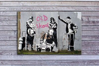 "Banksy, Old Skool Elders (16"" x 24"") - Canvas Wrap Print"