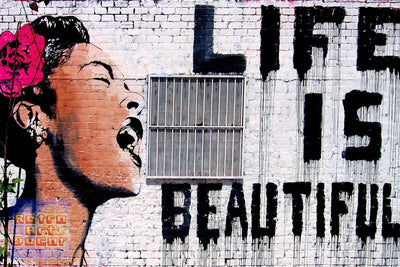 "Banksy, Life is Beautiful (16"" x 24"") - Canvas Wrap Print"
