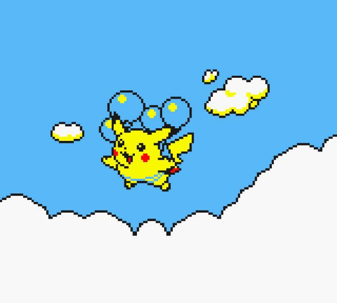 "Pokemon Yellow, Flying Pikachu (11"" x 14"") - Canvas Wrap Print"