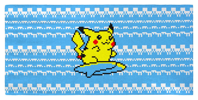 "Pokemon Yellow, Surfing Pikachu 30"" x 60"" Microfiber Beach Towel"
