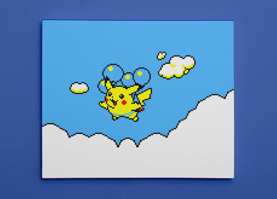 "Pokemon Yellow, Flying Pikachu (8"" x 10"") - Canvas Wrap Print"