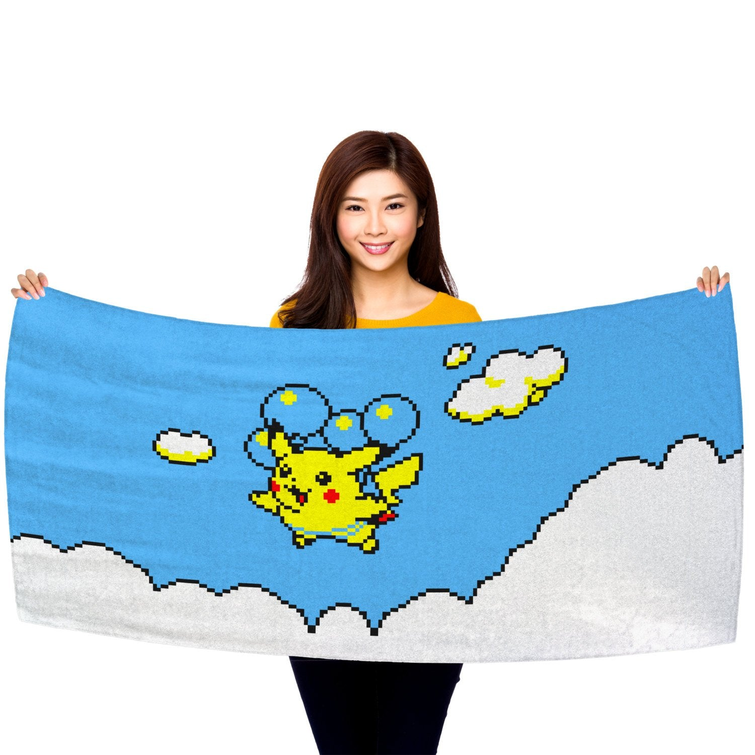 "Pokemon Yellow, Flying Pikachu 30"" x 60"" Microfiber Beach Towel"