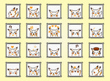 "Pokemon Yellow, Pikachu Faces (16"" x 20"") - Canvas Wrap Print"