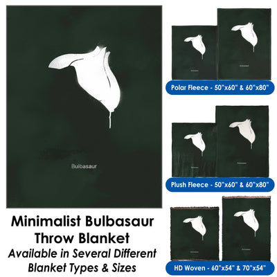 Minimalist Bulbasaur Throw Blanket / Tapestry Wall Hanging