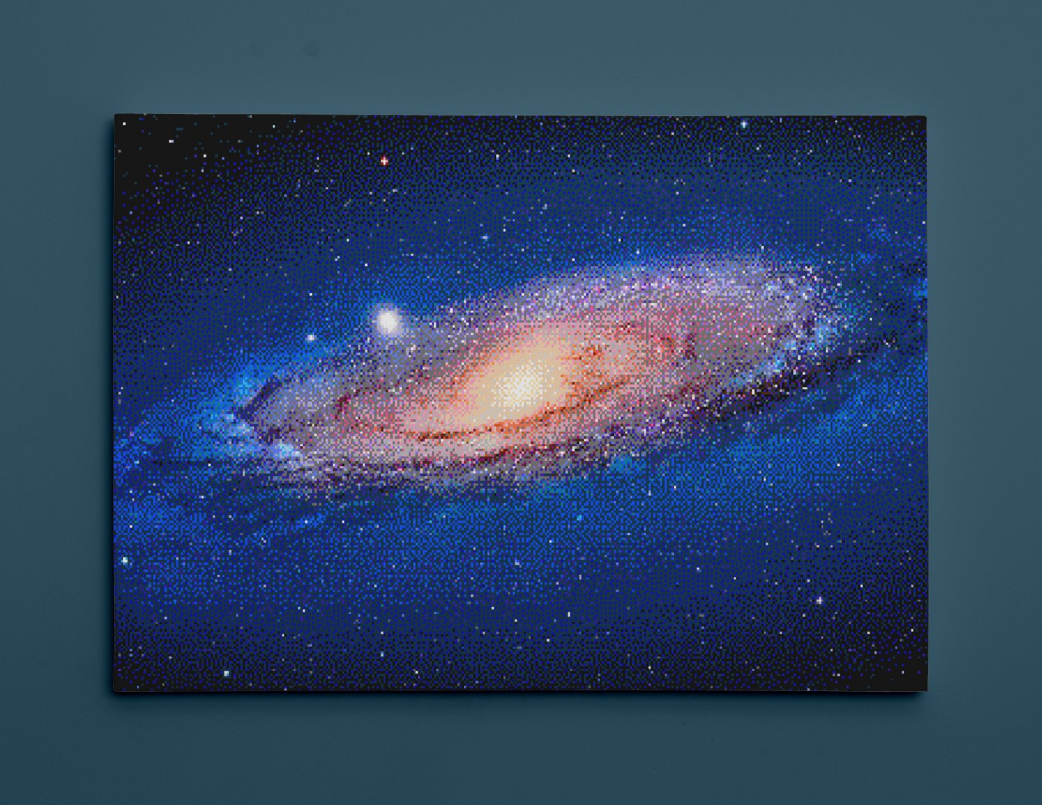The Andromeda Galaxy for NES, Pixel Art (8″ x 12″) – Canvas Wrap Print