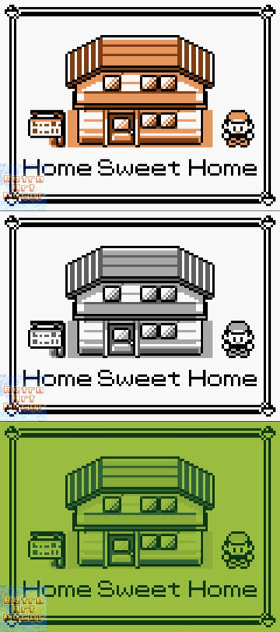 "Pokemon, ""Home Sweet Home"" (18"" x 24"") - Canvas Wrap Print"