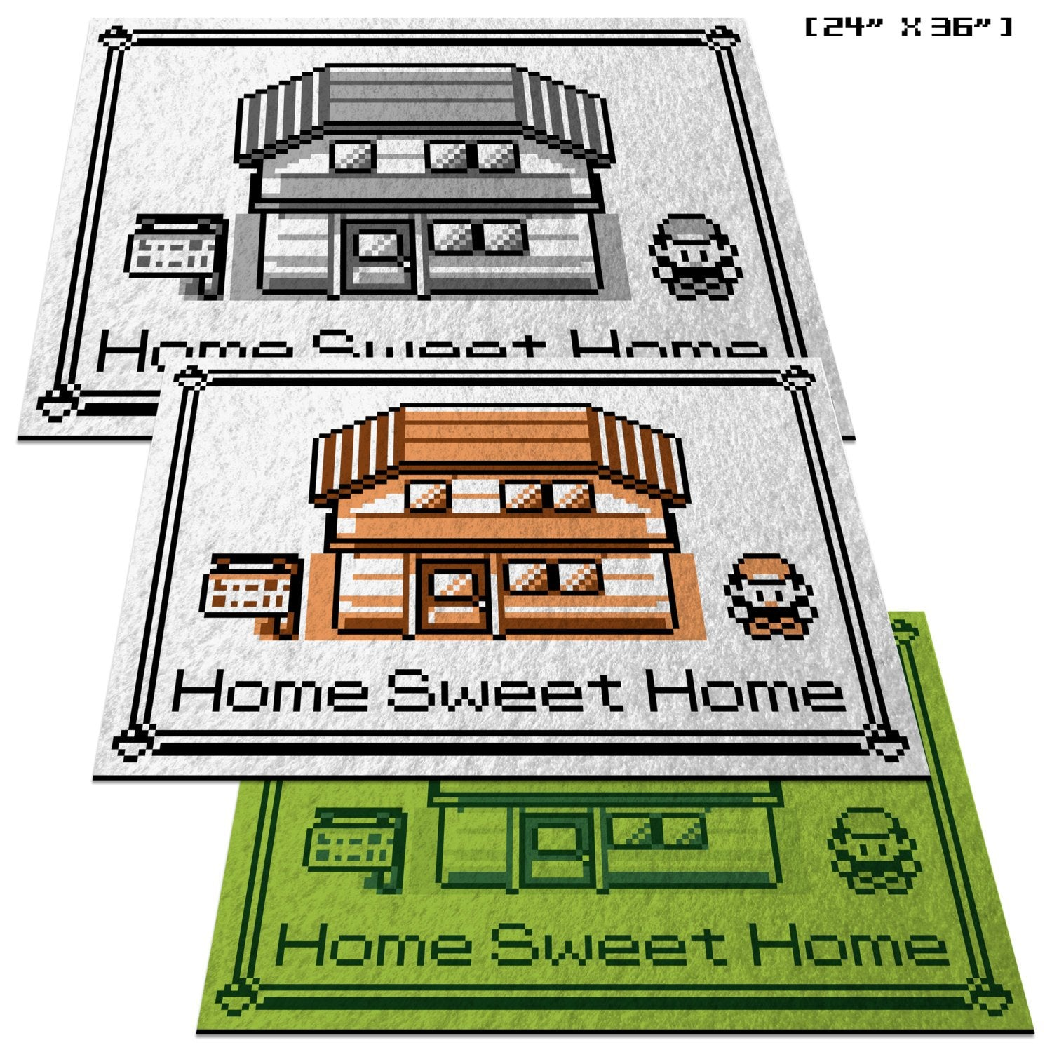 "Pokemon,""Home Sweet Home"" - 24"" x 36"" Doormat Welcome Floormat"