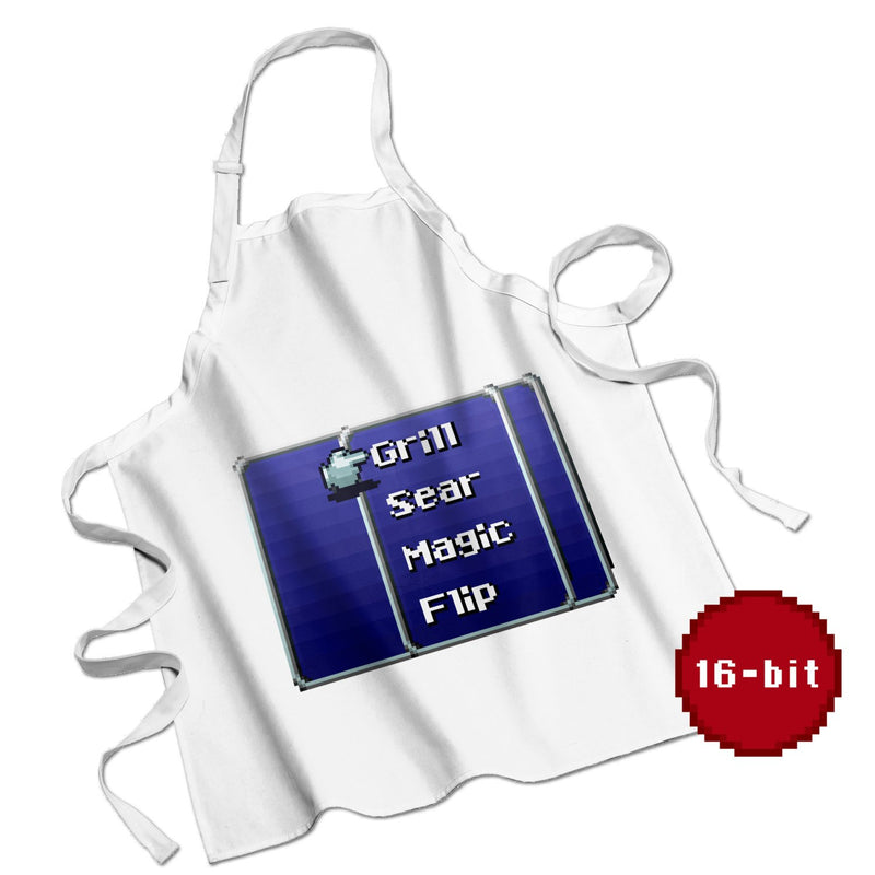 Retro RPG Menu Cookout Apron