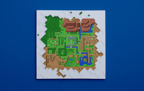 "Legend of Zelda: A Link to the Past, Map of Hyrule (16"" x 16"") - Canvas Wrap Print"