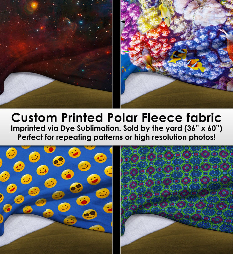Custom Printed Plush Polar Fleece Fabric