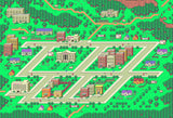 "EarthBound, Onett Map (8"" x 10"") - Canvas Wrap Print"