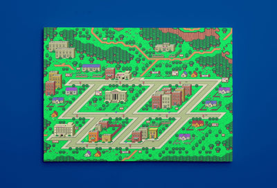 "EarthBound, Onett Map (16"" x 24"") - Canvas Wrap Print"