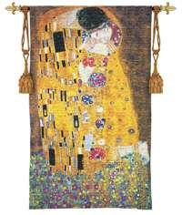 "The Kiss - 32""x53"" Tapestry Wall Hanging"