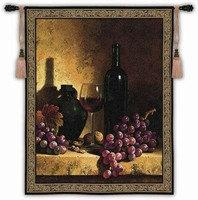 "Wine, Grapes & Walnuts - 53""x59"" Tapestry Wall Hanging"