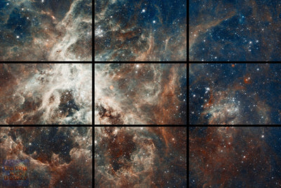 "30 Doradus Nebula - 72"" x 48"", GIANT 9-Piece Canvas Wall Mural"