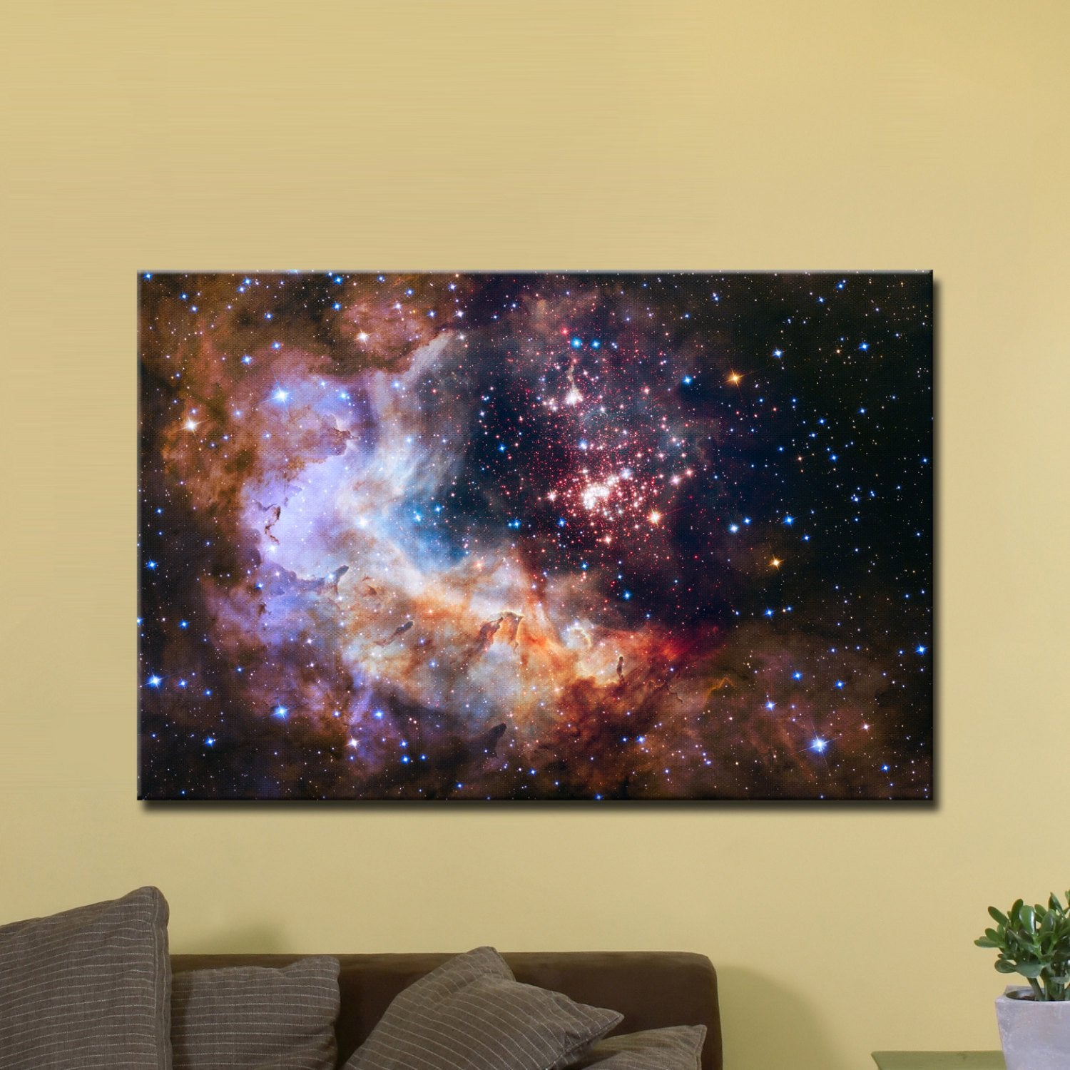 "Celestial Fireworks, Hubble 25th Anniversary HD Space Photo (24"" x 36"") - Canvas Wrap Print"