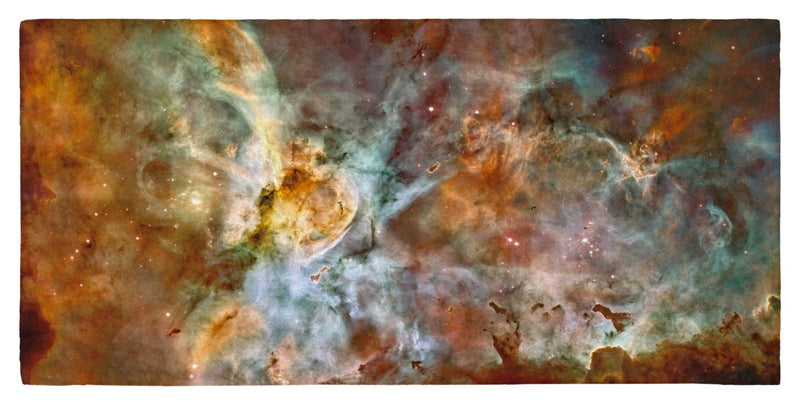 "The Carina Nebula, Star Birth in the Extreme (Color) - 30"" x 60"" Microfiber Beach Towel"