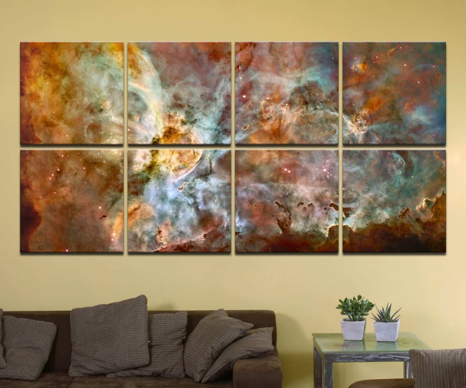 The Carina Nebula, Star Birth in the Extreme (Color) – 80″ x 40″, GIANT 8-Piece Canvas Wall Mural