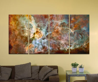 "The Carina Nebula, Star Birth in the Extreme (Color) - 72"" x 36"", 4-Piece Split Canvas Wall Mural"