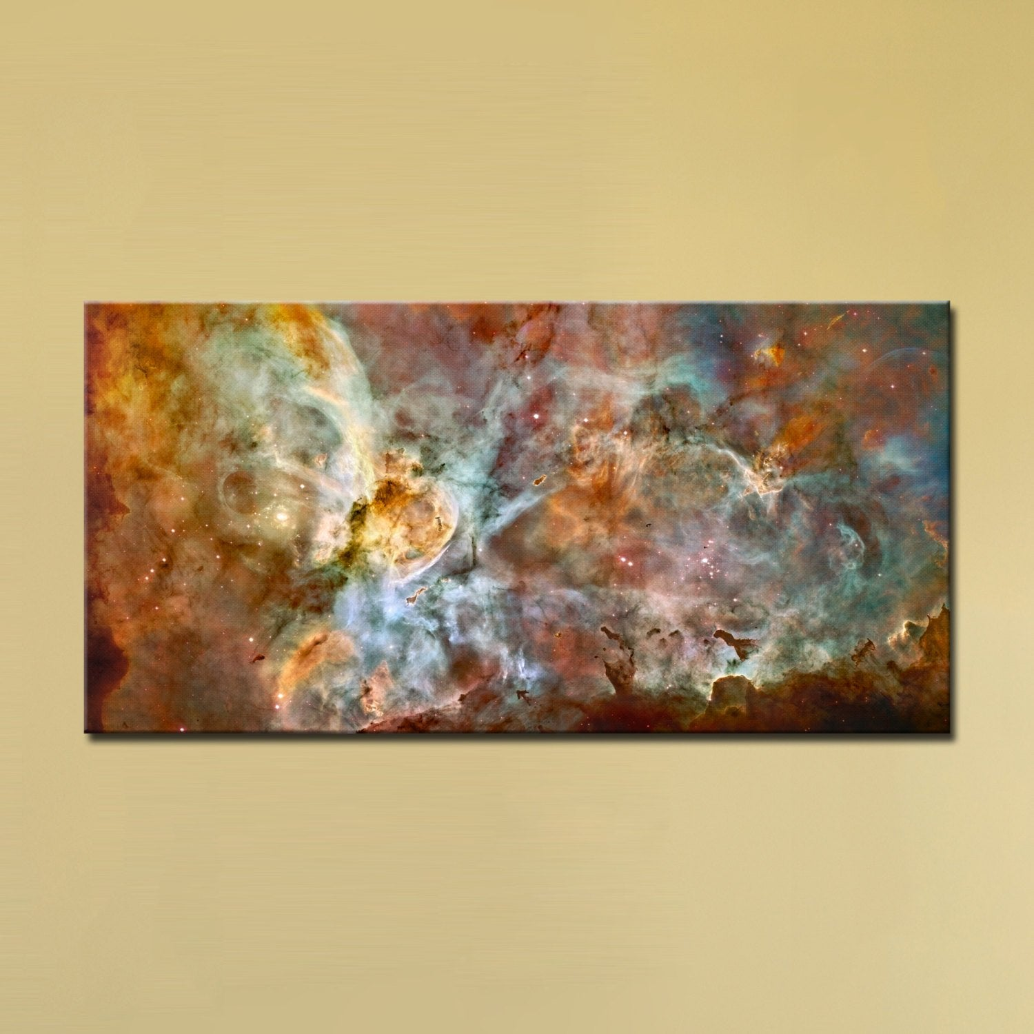 The Carina Nebula, Star Birth in the Extreme (Color) (12″ x 24″) – Canvas Wrap Print