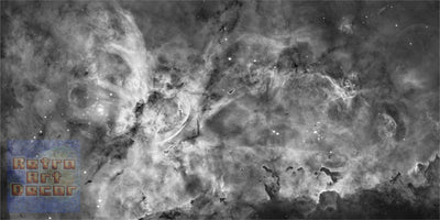 "The Carina Nebula, Star Birth in the Extreme (Grayscale) (16"" x 24"") - Canvas Wrap Print"