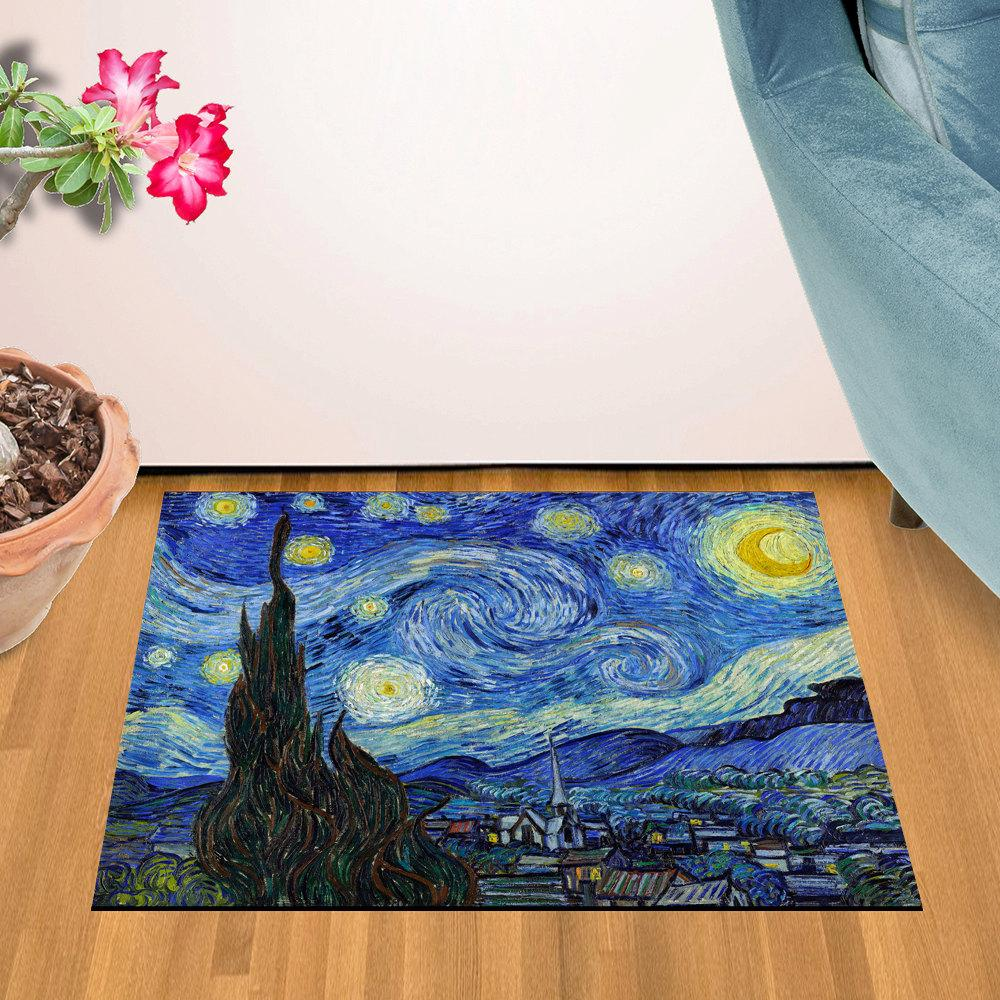 "Van Gogh - Starry Night Design Door Mat (24"" x 36"")"
