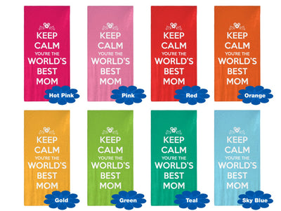 "Keep Calm You're The World's Best Mom - 30"" x 60"" Microfiber Beach Towel"