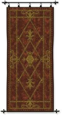 "Edinburgh Scroll - 26""x57"" Tapestry Wall Hanging"