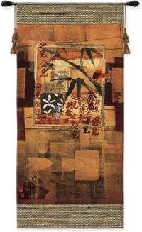 "Bamboo Inspiration I - 23""x52"" Tapestry Wall Hanging"
