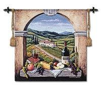 "Vineyard Road - 53""X53"" Tapestry Wall Hanging"