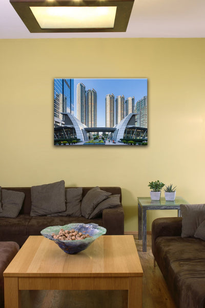 "Kowloon Waterfront, Hong Kong (12"" x 18"") - Canvas Wrap Print"