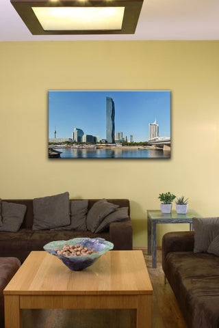 "Donau City, Vienna (14"" x 24"") - Canvas Wrap Print"