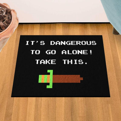 "It's Dangerous To Go Alone 18"" x 24"" Doormat Welcome Floormat"