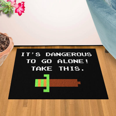 "It's Dangerous To Go Alone 24"" x 36"" Doormat Welcome Floormat"